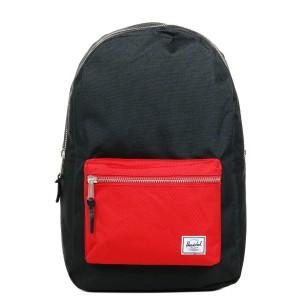 Herschel Sac à dos Settlement black/scarlet [ Promotion Black Friday Soldes ]