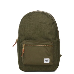 Herschel Sac à dos Settlement olive night crosshatch/olive night [ Promotion Black Friday Soldes ]
