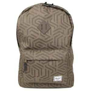 Herschel Sac à dos Heritage metric/black rubber [ Promotion Black Friday Soldes ]