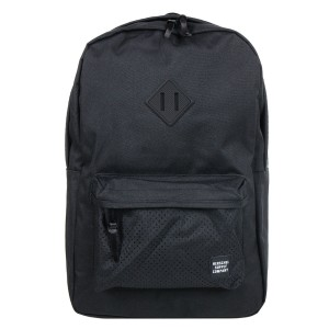 Herschel Sac à dos Heritage Aspect black/black rubber [ Promotion Black Friday Soldes ]