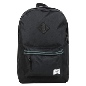 Herschel Sac à dos Heritage Offset black/dark shadow/black veggie tan leather | Pas Cher Jusqu'à 20% - 80%