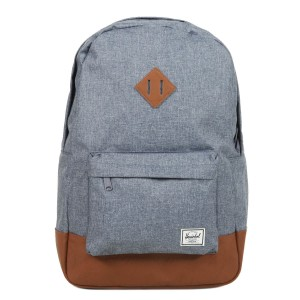 Herschel Sac à dos Heritage dark chambray crosshatch/tan [ Promotion Black Friday Soldes ]