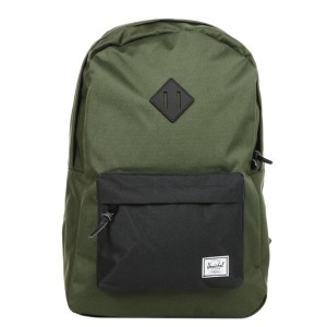 Herschel Sac à dos Heritage forest night/black/black rubber [ Promotion Black Friday Soldes ]