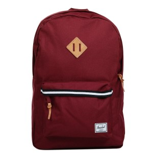 Herschel Sac à dos Heritage Offset windsor wine/veggie tan leather [ Promotion Black Friday Soldes ]