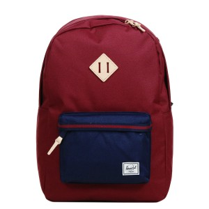 Herschel Sac à dos Heritage Offset windsor wine/peacoat [ Promotion Black Friday Soldes ]