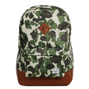 Herschel Sac à dos Heritage frog camo/tan synthetic leather [ Promotion Black Friday Soldes ]