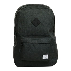 Herschel Sac à dos Heritage black crosshatch/black rubber [ Promotion Black Friday Soldes ]