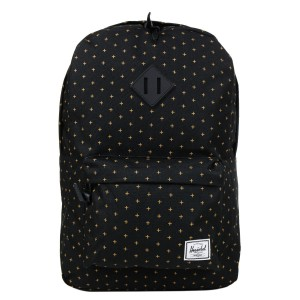 Herschel Sac à dos Heritage black gridlock gold [ Promotion Black Friday Soldes ]