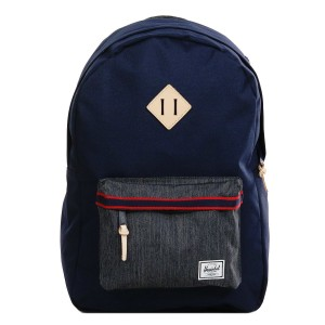 Herschel Sac à dos Heritage Offset peacoat/dark denim [ Promotion Black Friday Soldes ]