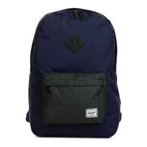 Herschel Sac à dos Heritage peacoat/black crosshatch [ Promotion Black Friday Soldes ]