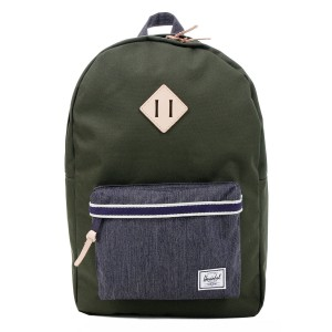 Herschel Sac à dos Heritage Offset forest night/ dark denim [ Promotion Black Friday Soldes ]
