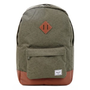 Herschel Sac à dos Heritage ivy green slub [ Promotion Black Friday Soldes ]