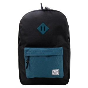 Herschel Sac à dos Heritage black/deep teal [ Promotion Black Friday Soldes ]