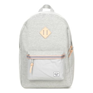 Herschel Sac à dos Heritage Offset light grey crosshatch/high rise [ Promotion Black Friday Soldes ]
