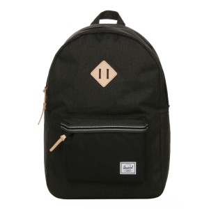 Herschel Sac à dos Heritage Offset black crosshatch/black [ Promotion Black Friday Soldes ]