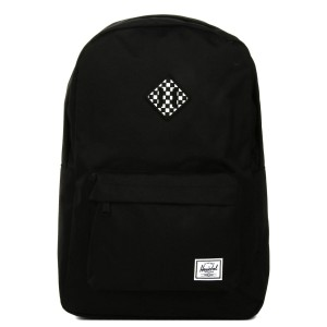 Herschel Sac à dos Heritage black/checkerboard [ Promotion Black Friday Soldes ]