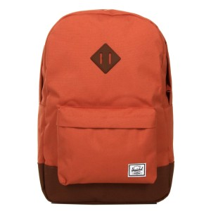 Herschel Sac à dos Heritage apricot brandy/saddle brown [ Promotion Black Friday Soldes ]