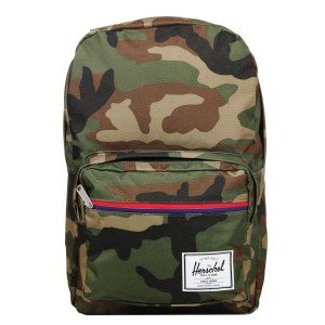 Herschel Sac à dos Pop Quiz woodland camo multi zip/tan [ Promotion Black Friday Soldes ]
