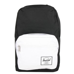 Herschel Sac à dos Pop Quiz black/white rubber [ Promotion Black Friday Soldes ]