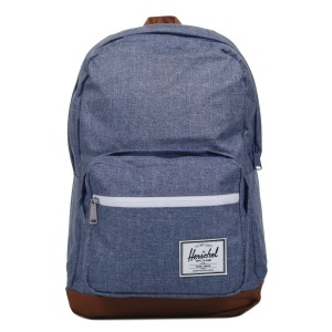 Herschel Sac à dos Pop Quiz dark chambray crosshatch/tan [ Promotion Black Friday Soldes ]