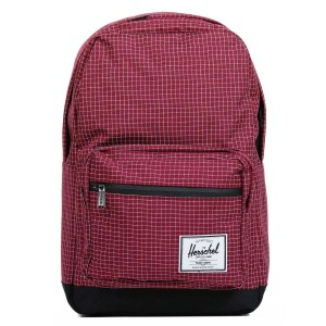 Herschel Sac à dos Pop Quiz windsor wine grid/black [ Promotion Black Friday Soldes ]