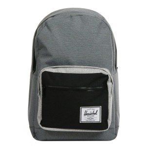 Herschel Sac à dos Pop Quiz mid grey crosshatch/black [ Promotion Black Friday Soldes ]