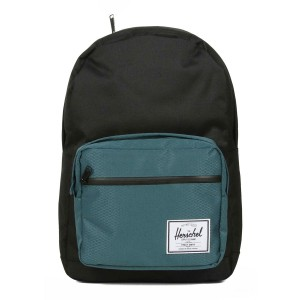 Herschel Sac à dos Pop Quiz black/deep teal [ Promotion Black Friday Soldes ]