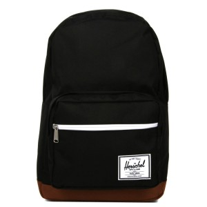 Herschel Sac à dos Pop Quiz black/saddle brown [ Promotion Black Friday Soldes ]