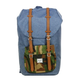 Herschel Sac à dos Little America navy crosshatch [ Promotion Black Friday Soldes ]