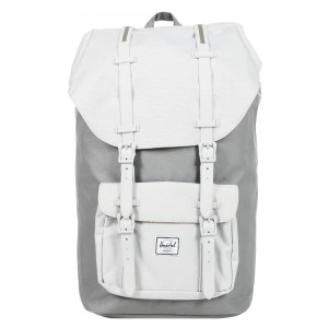 Herschel Sac à dos Little America grey lunar rock/lunar rock rubber [ Promotion Black Friday Soldes ]