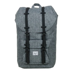 Herschel Sac à dos Little America raven crosshatch/black rubber [ Promotion Black Friday Soldes ]