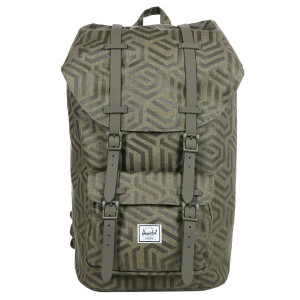 Herschel Sac à dos Little America metric/black rubber [ Promotion Black Friday Soldes ]