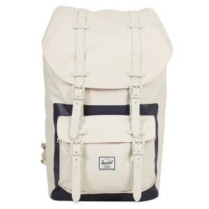 Herschel Sac à dos Little America natural/peacoat block print [ Promotion Black Friday Soldes ]