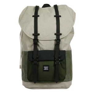 Herschel Sac à dos Little America Aspect light khaki crosshatch/forest night/black rubber [ Promotion Black Friday Soldes ]