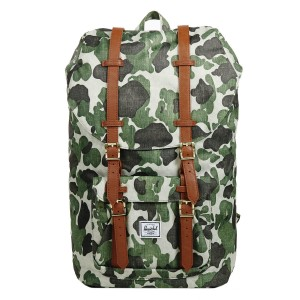 Herschel Sac à dos Little America frog camo/tan synthetic leather [ Promotion Black Friday Soldes ]