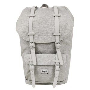 Herschel Sac à dos Little America light grey crosshatch | Pas Cher Jusqu'à 20% - 80%