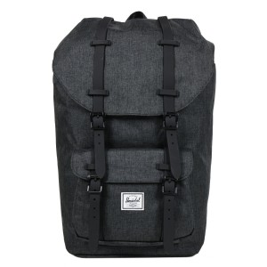 Herschel Sac à dos Little America black crosshatch/black rubber [ Promotion Black Friday Soldes ]