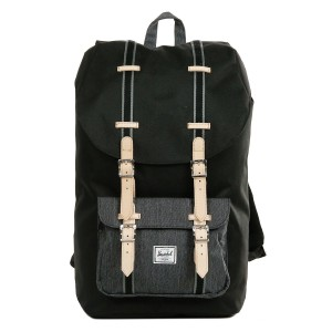 Herschel Sac à dos Little America Offset black/black denim [ Promotion Black Friday Soldes ]