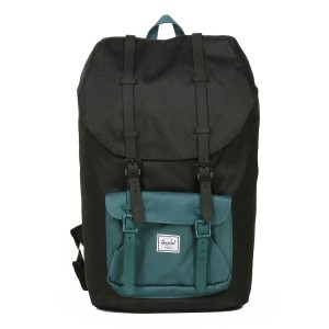 Herschel Sac à dos Little America black/deep teal [ Promotion Black Friday Soldes ]