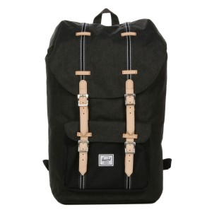 Herschel Sac à dos Little America Offset black crosshatch/black | Pas Cher Jusqu'à 20% - 80%