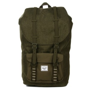 Herschel Sac à dos Little America olive night crosshatch/olive night [ Promotion Black Friday Soldes ]
