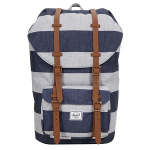 Herschel Sac à dos Little America border stripe/saddle [ Promotion Black Friday Soldes ]