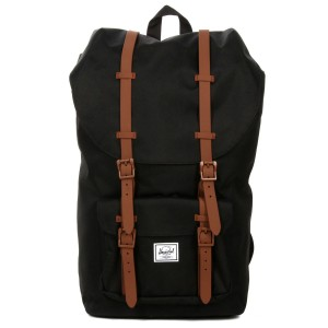 Herschel Sac à dos Little America black/saddle brown [ Promotion Black Friday Soldes ]