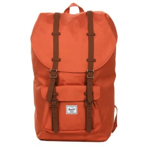Herschel Sac à dos Little America apricot brandy/saddle brown [ Promotion Black Friday Soldes ]
