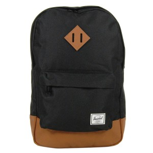 Herschel Sac à dos Heritage Mid Volume black/tan [ Promotion Black Friday Soldes ]
