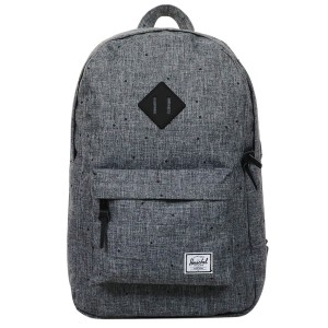 Herschel Sac à dos Heritage Mid Volume scattered raven crosshatch/black rubber [ Promotion Black Friday Soldes ]