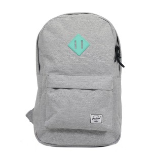 Herschel Sac à dos Heritage Mid Volume light grey crosshatch/lucite green rubber [ Promotion Black Friday Soldes ]