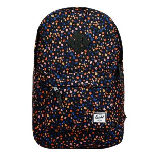Herschel Sac à dos Heritage Mid Volume black mini floral/black synthetic leather [ Promotion Black Friday Soldes ]