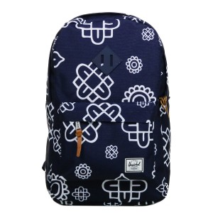 Herschel Sac à dos Heritage Mid Volume peacoat paisley print/peacoat rubber [ Promotion Black Friday Soldes ]