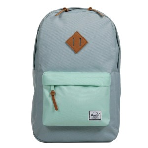 Herschel Sac à dos Heritage Mid Volume quarry/yucca/tan synthetic leather [ Promotion Black Friday Soldes ]